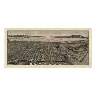 Berkeley, mapa panorámico de CA - 1909 Impresiones