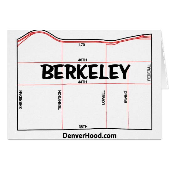 Berkeley Neighborhood Map - Denver, CO Card