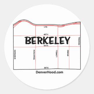 Berkeley Neighborhood Map - Denver, CO Classic Round Sticker