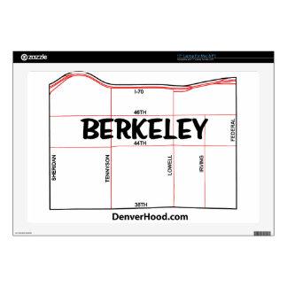 Berkeley Neighborhood Map - Denver CO Skin For Laptop