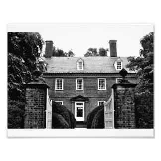 Berkeley Plantation - Carriage Entrance (B&W) Photo Print