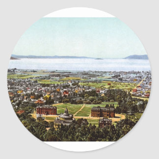 Berkeley San Francisco California Round Stickers