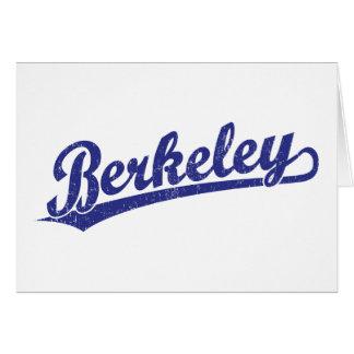 Berkeley script logo in blue cards