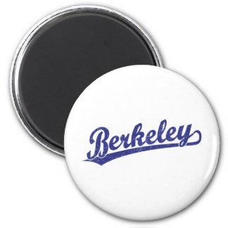 Berkeley script logo in blue magnets