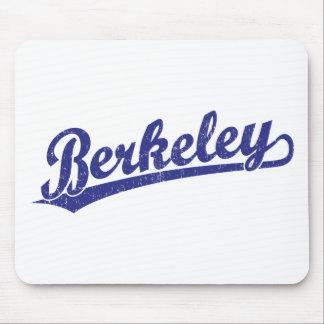 Berkeley script logo in blue mouse pad