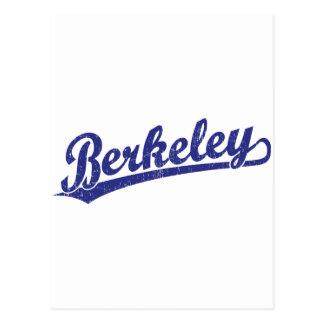 Berkeley script logo in blue post cards
