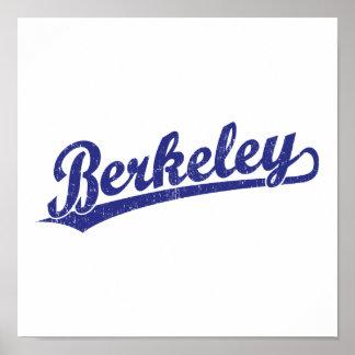 Berkeley script logo in blue poster