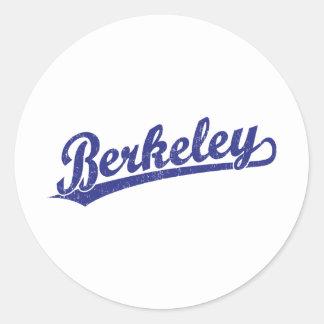 Berkeley script logo in blue round sticker