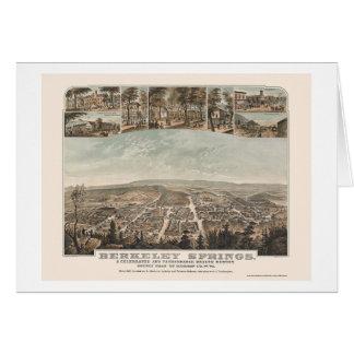 Berkeley Springs, WV Panoramic Map - 1889 Card