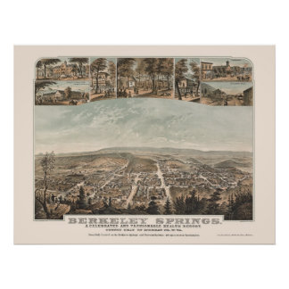 Berkeley Springs, WV Panoramic Map - 1889 Poster