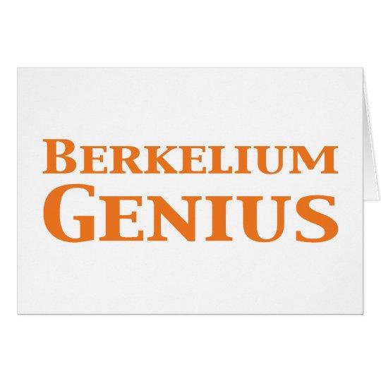 Berkelium Genius Gifts Card