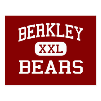 Berkley - Bears - High School - Berkley Michigan Postcard