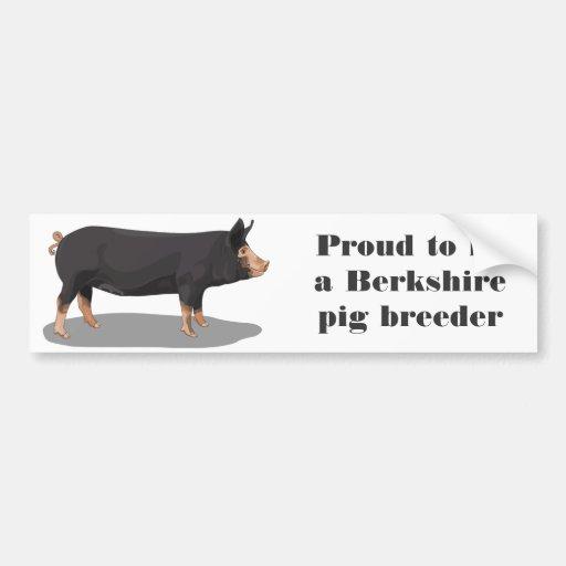Berkshire, orgulloso ser un criador del cerdo de B Etiqueta De Parachoque