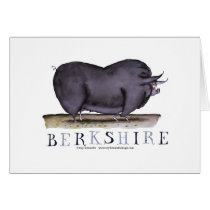 berkshire pig, tony fernandes card