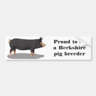 Berkshire, Proud to be a Berkshire pig breeder Bumper Sticker
