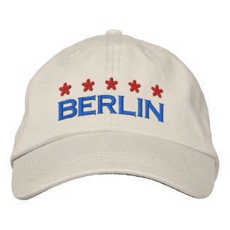 BERLIN - 001 EMBROIDERED BASEBALL CAP
