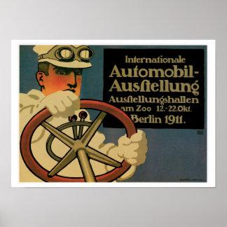 Berlin 1911 Automobile Vintage Ad Art Poster
