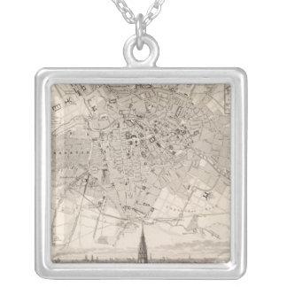 Berlin 2 square pendant necklace