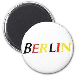 Berlín, Alemania en colores de la bandera Imán Redondo 5 Cm