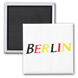 Berlín, Alemania en colores de la bandera Imanes