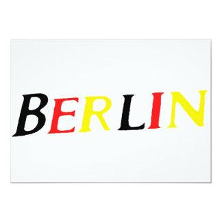 Berlín, Alemania en colores de la bandera Invitación 12,7 X 17,8 Cm