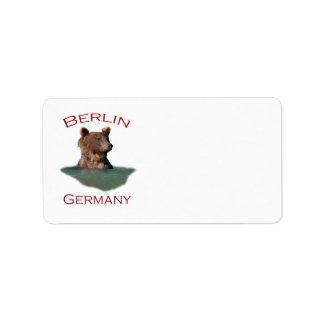 Berlín, Alemania Etiquetas De Dirección