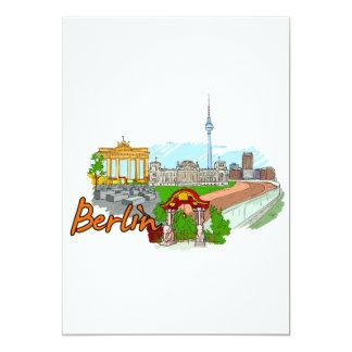 Berlín - Alemania Invitación 12,7 X 17,8 Cm