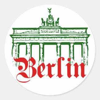 Berlín Alemania Etiquetas Redondas