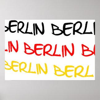 Berlín, Alemania, recuerdo del logotipo Póster