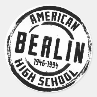 Berlin American High School Stamp A004 Classic Round Sticker