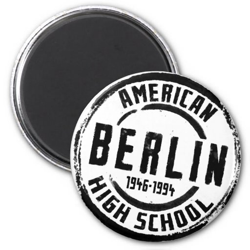 Berlin American High School Stamp A004 Fridge Magnet