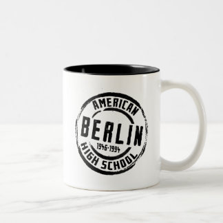 Berlin American High School Stamp A004 Two-Tone Coffee Mug