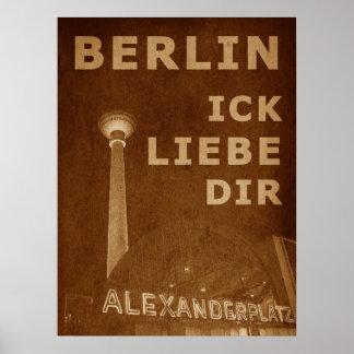 BERLÍN AMOR - anaranjado Impresiones