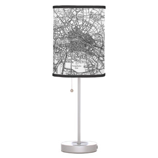 Berlin and Surrounding Areas Map(1911) Table Lamp