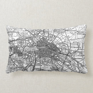 Berlin and Surrounding Areas Map(1911) Throw Pillow
