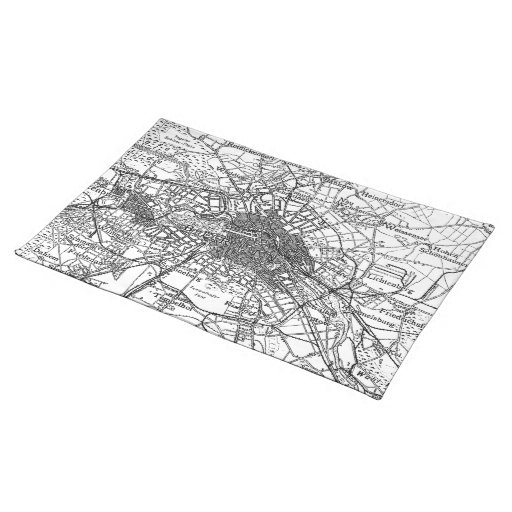Berlin and Surrounding Areas Map(1911) Place Mats