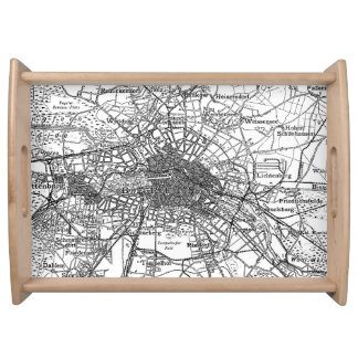 Berlin and Surrounding Areas Map (1911) Serving Tray