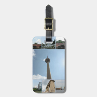 Berlin Architecture Photo Collage Luggage Tag