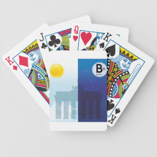 Berlin at day and night - Brandenburger gate Bicycle Poker Cards