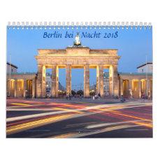 Berlin at night photo calendar