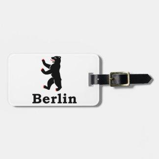 Berlin Bear Luggage Tag
