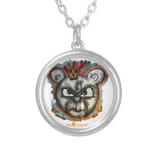 Berlin Bear Round Pendant Necklace