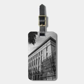 Berlin Berghain monochrome Luggage Tag