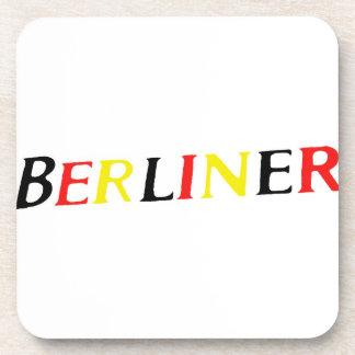 Berlin,Berliner, Germany in Colours of Flag Beverage Coaster