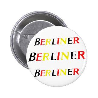 Berlín, berlinés, Alemania en colores de la bander Pins