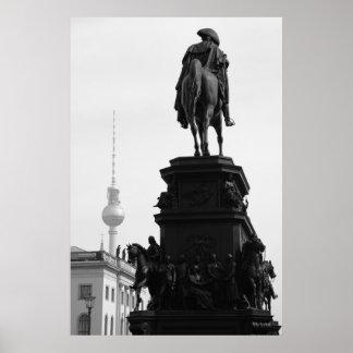 Berlín berlinés Fernsehturm Póster