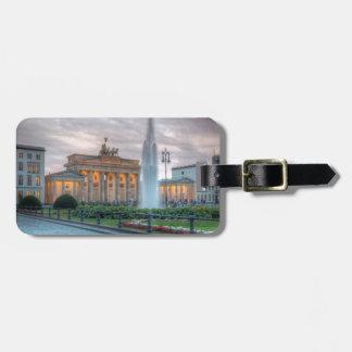 Berlin Brandenburg Gate Bag Tag