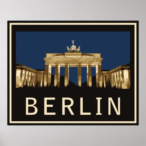 Berlin Brandenburg Gate Poster Zazzle