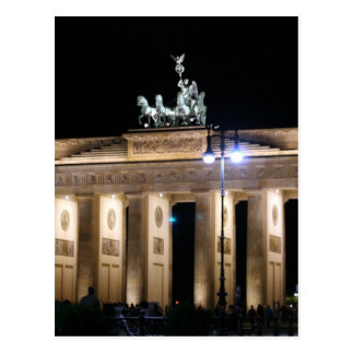berlin brandenburg night postcard