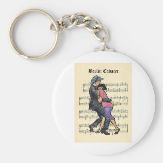 Berlin Cabaret 1920s w/Sheet Music Background Keychain